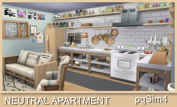 Neutral Apartment sims 4 cc