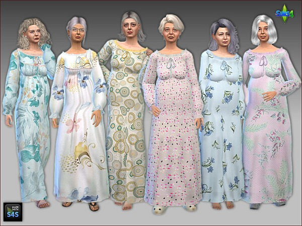 Nightgowns for seniors sims 4 cc