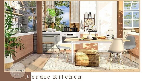 Nordic Kitchen Sims 4 cc