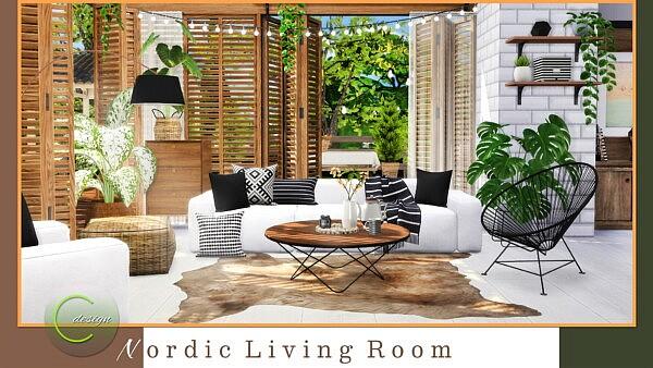 Nordic Living Room sims 4 cc