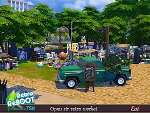 Open Air market sims 4 cc