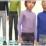 Outfit Retro Boy sims 4 cc