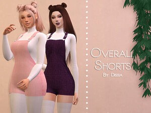 Overall Shorts sims 4 cc