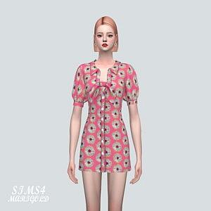 P Ribbon D Mini Dress V2 sims 4 cc