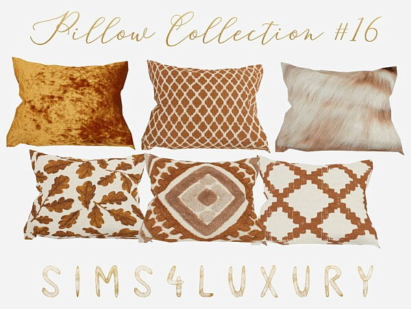Pillow Collection 16 from Sims4Luxury