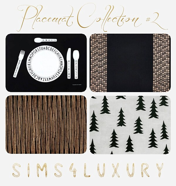 Place Mat Collection 2 from Sims4Luxury
