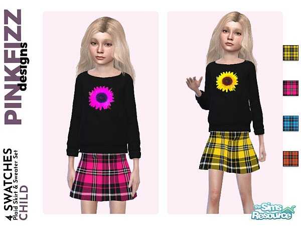 Plaid Set by Pinkfizzzzz from TSR