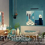Plastered Style Walls sims 4 cc