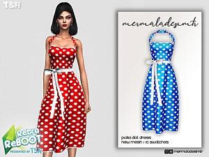 Polka Dot Dress sims 4 cc