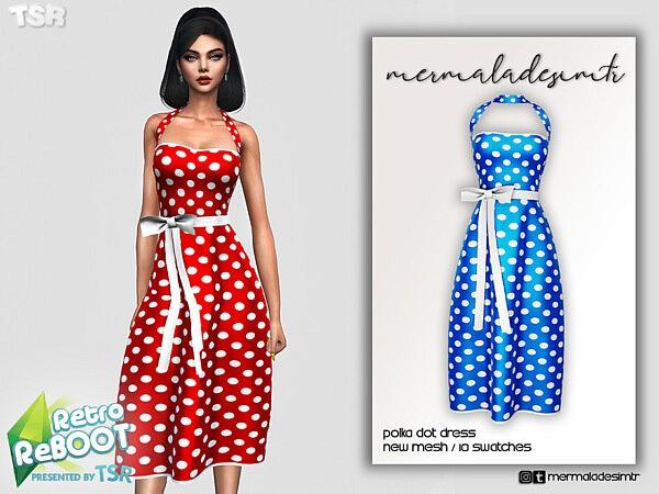 Polka Dot Dress by mermaladesimtr from TSR