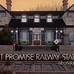 Port Promise Railway Station abandoned lot sims 4 cc