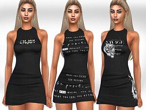 Printed Little Black Dresses sims 4 cc