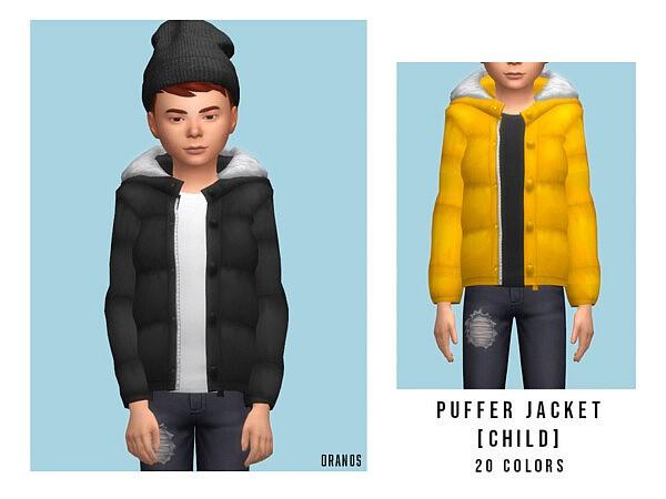 Puffer Jacket sims 4 cc
