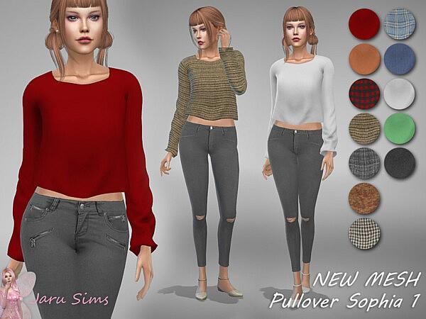 Pullover Sophia 1 sims 4 cc