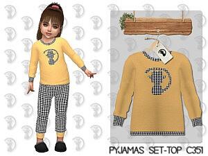 Pyjamas Set Top sims 4 cc