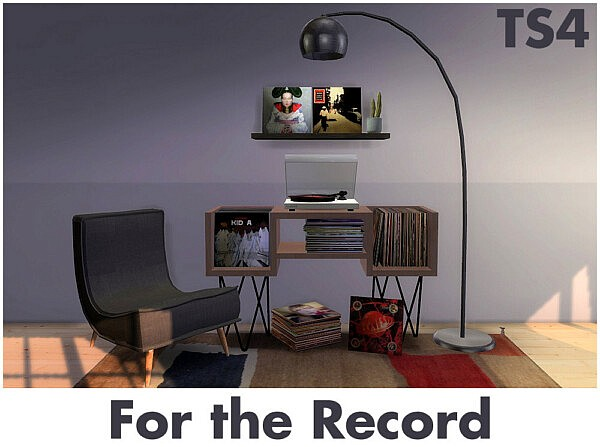 Record player and records sims 4 cc