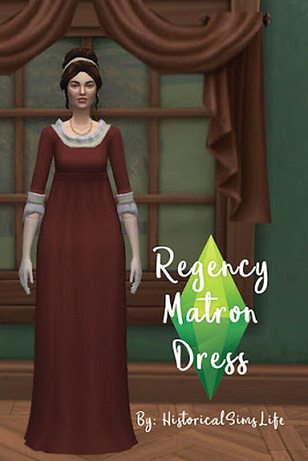 Regency Matron Dress sims 4 cc