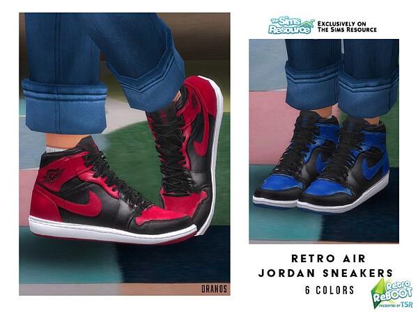 Retro Air Sneakers sims 4 cc