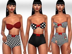 Retro Bikinies sims 4 cc