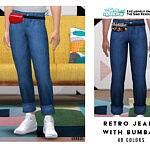 Retro Jeans With Bumbag sims 4 cc