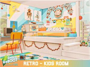 Retro Kids room sims 4 cc