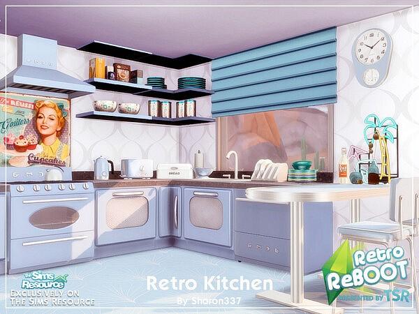 Retro Kitchen sims 4 cc1