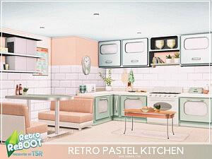Retro Pastel Kitchen sims 4 cc