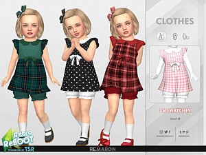 Retro ReBOOT 50s Dress for Toddler 01 sims 4 cc