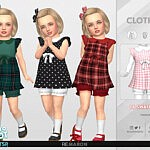 Retro ReBOOT 50s Dress for Toddler 01 sims 4 cc1