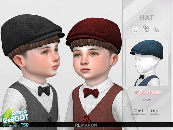 Retro ReBOOT 50s Hat for Toddler 01sims 4 cc