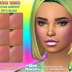 Retro ReBOOT 80s Blush sims 4 cc