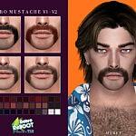 Retro ReBOOT Mustache V1 V2 sims 4 cc