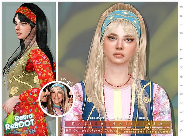 Retro ReBOOT Pattie Hairstyle Set sims 4 cc