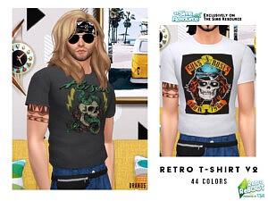 Retro T Shirt V2 sims 4 cc1