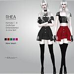 Rhea Mini Skirt sims 4 cc