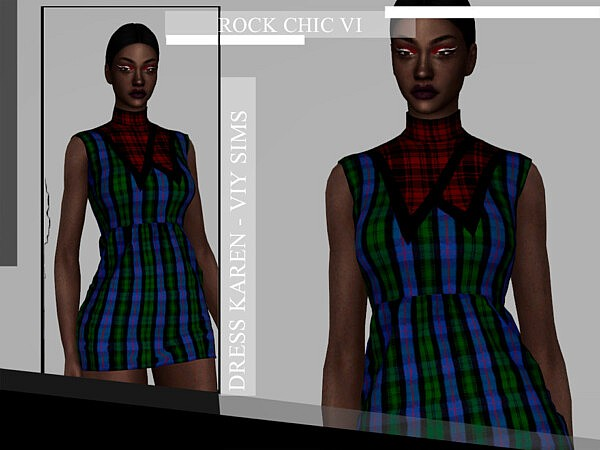 Rock Chic VI Dress Karen sims 4 cc