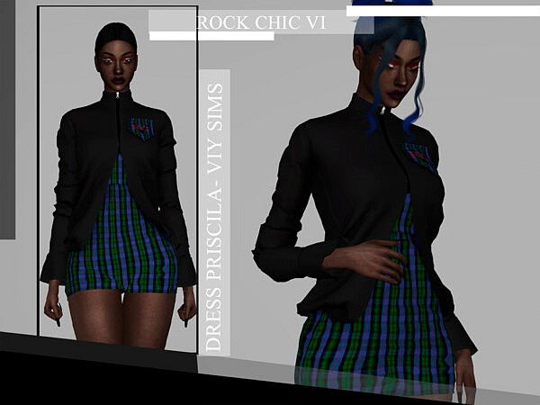Rock Chic VI Dress Pricila sims 4 cc