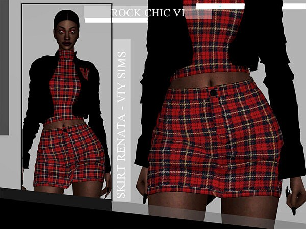 Rock Chic VI Skirt Renata sims 4 cc