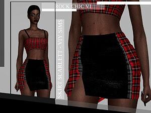 Rock Chic VI Skirt Scarlett sims 4 cc