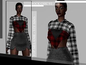 Rock Chic VI Top Melanie sims 4 cc
