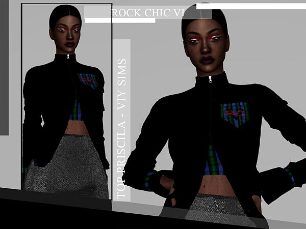 Rock Chic VI Top Priscila Sims 4 CC