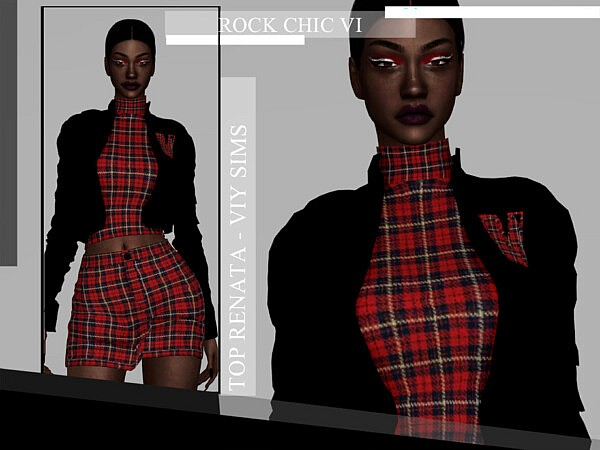 Rock Chic VI Top Renata sims 4 cc