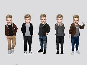 Ronnie Jacket Toddler sims 4 cc
