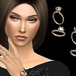 Round cut pave engagement ring sims 4 cc