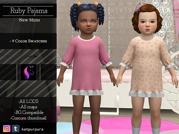 Ruby Pajama sims 4 cc