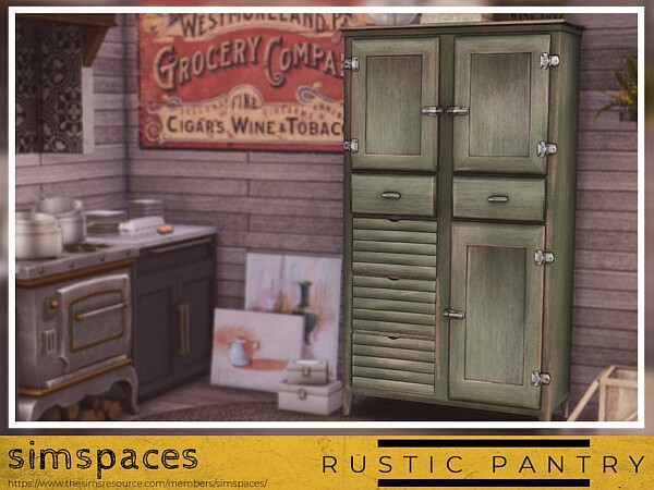 Rustic Pantry sims 4 cc