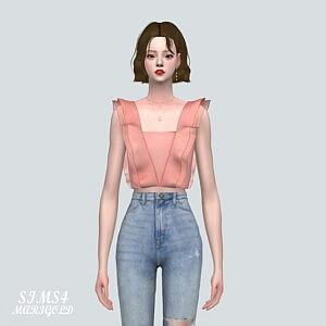 SL 5 Flare Blouse sims 4 cc