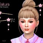 Sakura Child Chopstick Set sims 4 cc