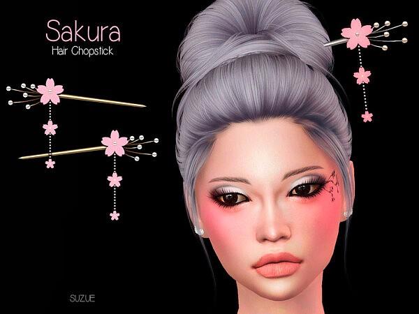 Sakura Chopstick Set sims 4 cc