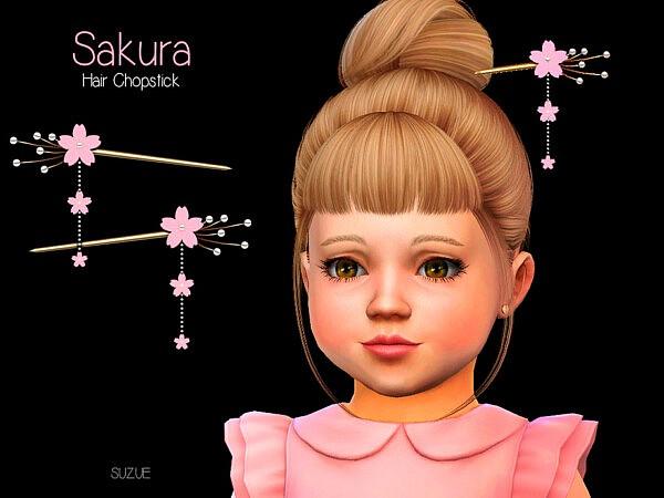 Sakura Toddler Chopstick Set sims 4 cc